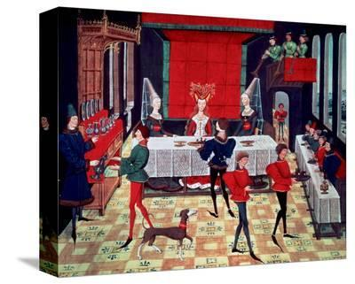 Medieval Banquet for the Queen--Stretched Canvas Print