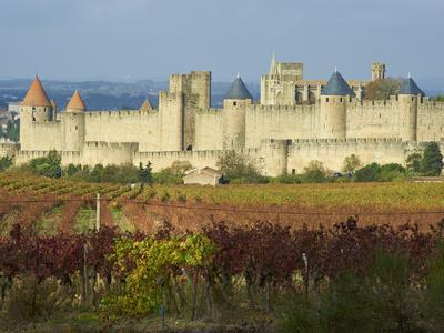 Medieval City of Carcassonne, UNESCO World Heritage Site, Aude, Languedoc-Roussillon, France, Europ-Tuul-Photographic Print