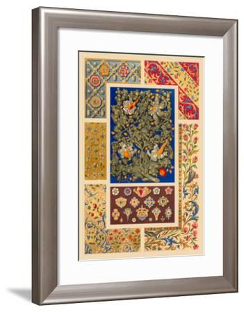 Medieval Design with Flowers-Racinet-Framed Art Print