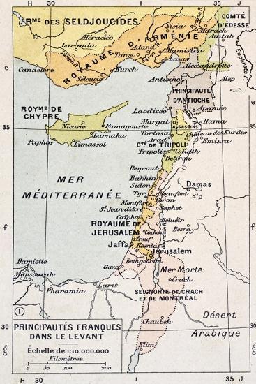 Medieval Eastern Mediterranean Old Map-marzolino-Art Print