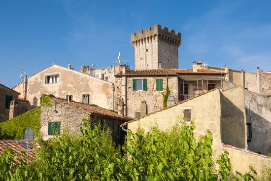 Medieval Fortress, Capalbio, Grosseto Province, Tuscany, Italy-Nico Tondini-Photographic Print