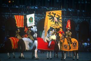 Medieval Horse ,&, Rider, Ommegang Celebration, Brussels, Belgium