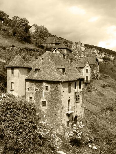 Medieval Houses, Aveyron, Conques, France-David Barnes-Photographic Print