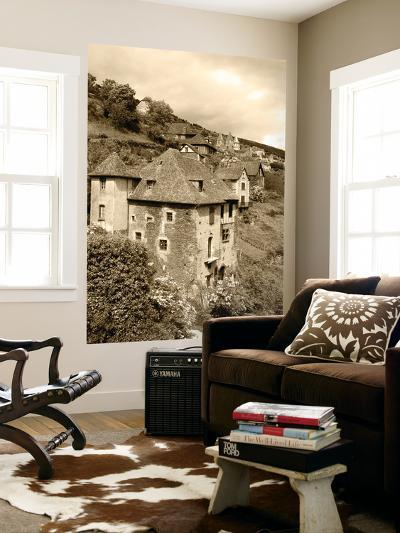 Medieval Houses, Aveyron, Conques, France-David Barnes-Giant Art Print