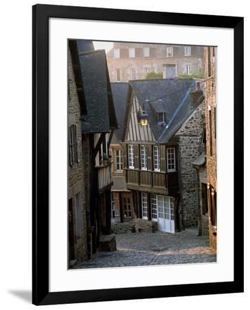 Medieval houses in Dinan, Ille-et-Vilaine, Brittany, France--Framed Photographic Print