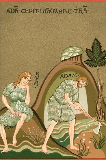 Medieval Illusttration, Adam and Eve--Art Print