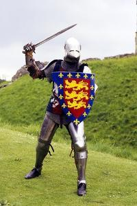 Medieval Knight in Plate Armour, Part of a Historical Re-Enactment