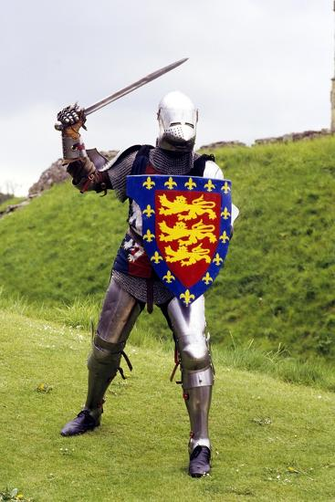 Medieval Knight in Plate Armour, Part of a Historical Re-Enactment--Photographic Print