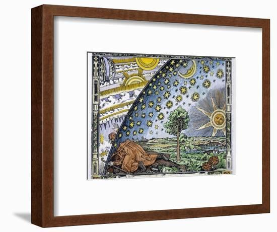 Medieval Missionary Finds a Place Where the Earth Touches Heaven--Framed Premium Giclee Print