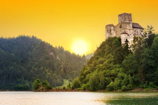 Medieval Niedzica Castle at Czorsztyn Lake in Poland-Patryk Kosmider-Photographic Print