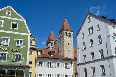 Medieval Patrician Houses and Towers in Regensburg, Bavaria, Germany-Michael Runkel-Photographic Print