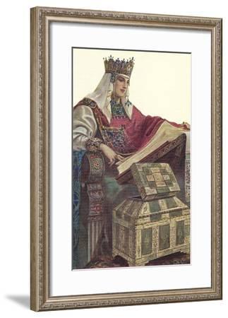 Medieval Queen--Framed Art Print