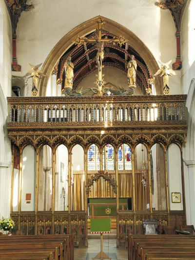 Medieval Rood Screen with Vaulting and Loft, Church of St Peter and St Paul, Eye, Suffolk--Photographic Print