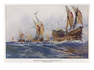 Medieval Ships--Giclee Print