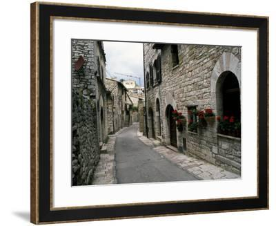 Medieval Street, Assisi, Umbria, Italy-Marilyn Parver-Framed Photographic Print