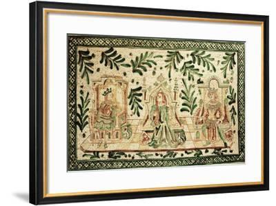 Medieval Style Decorative Plaque Depicting Constance of Hauteville--Framed Giclee Print