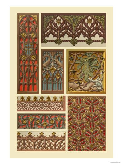 Medieval Woodwork-Racinet-Art Print
