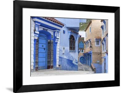 Medina, old town, Chefchaouen, Chaouen, Morocco-Ian Trower-Framed Photographic Print