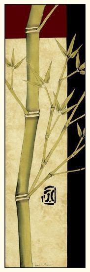 Meditative Bamboo Panel I-Jennifer Goldberger-Art Print