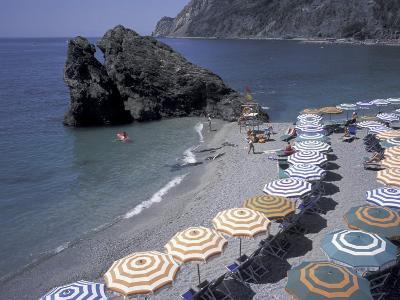 Mediterranean Beach in Cinque Terre, Liguria, Italy,-David Barnes-Photographic Print
