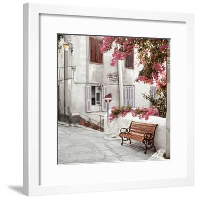 Mediterranean Bench-Alan Blaustein-Framed Photographic Print