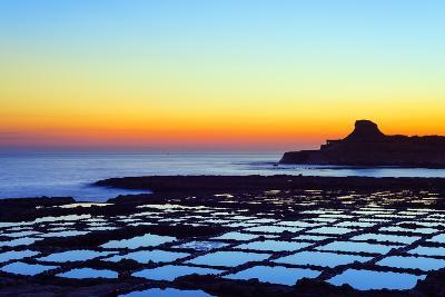 Mediterranean Europe, Malta, Gozo Island, Salt Pans at Sunrise, Xwejni Bay-Christian Kober-Photographic Print