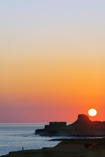 Mediterranean Europe, Malta, Gozo Island, Sunrise over Xwejni Bay-Christian Kober-Photographic Print