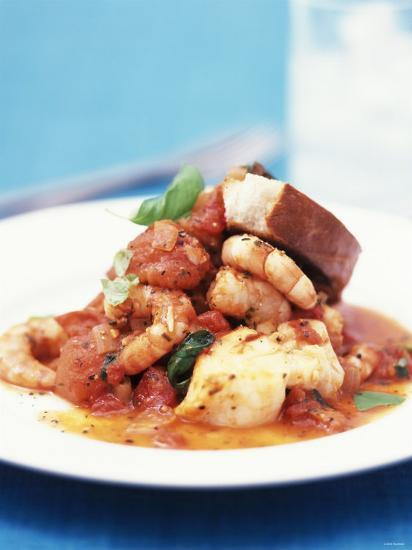 Mediterranean Fish and Seafood Stew--Photographic Print