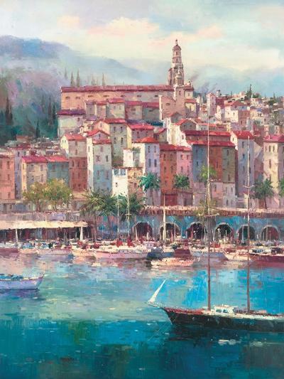 Mediterranean Harbor I-Peter Bell-Premium Giclee Print