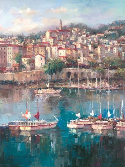 Mediterranean Harbor II-Peter Bell-Art Print