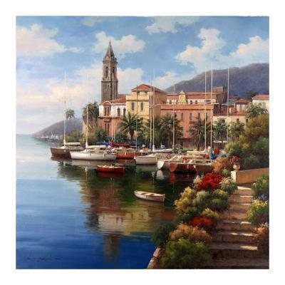 Mediterranean Harbor-Neil Jacobsen-Art Print