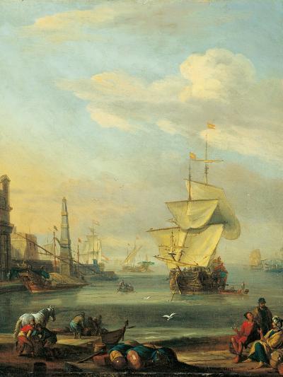 Mediterranean Harbor-Abraham Storck-Art Print
