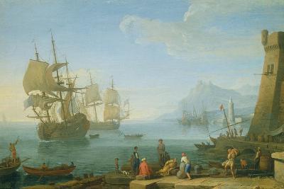 Mediterranean Harbour Scene-Adrien Manglard-Giclee Print
