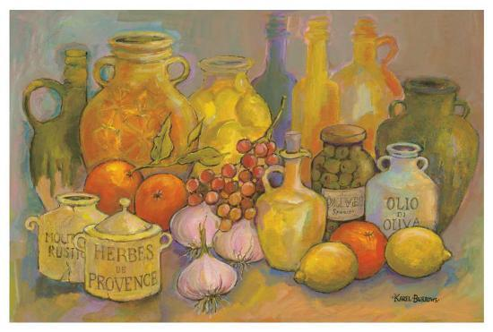 Mediterranean Kitchen II-Karel Burrows-Art Print