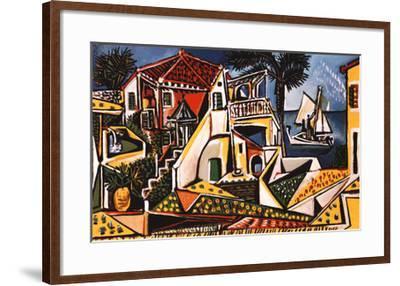 Mediterranean Landscape-Pablo Picasso-Framed Art Print