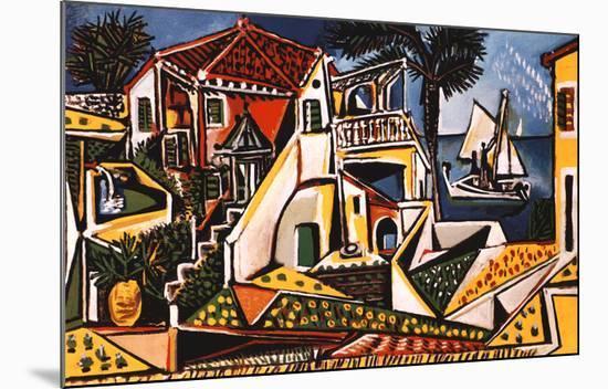 Mediterranean Landscape-Pablo Picasso-Mounted Art Print