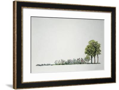 Mediterranean Maquis Plants with Trees--Framed Giclee Print