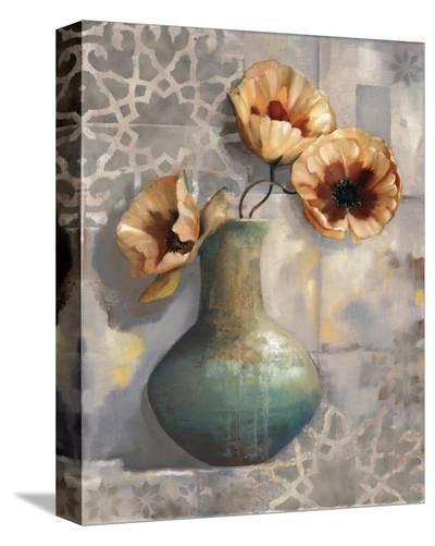 Mediterranean Poppies I-Louise Montillio-Stretched Canvas Print