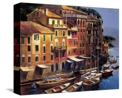 Mediterranean Port-Michael O'Toole-Stretched Canvas Print