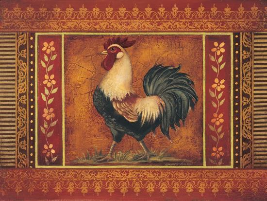 Mediterranean Rooster III-Kimberly Poloson-Art Print