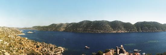 Mediterranean Sea Viewed from the Byzantine Castle, Kekova, Lycia, Antalya Province, Turkey--Photographic Print