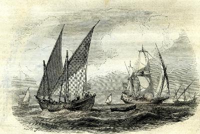 Mediterranean Ships, 17th Century, UK--Giclee Print