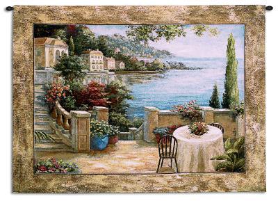 Mediterranean Terrace I-Vivian Flasch-Wall Tapestry