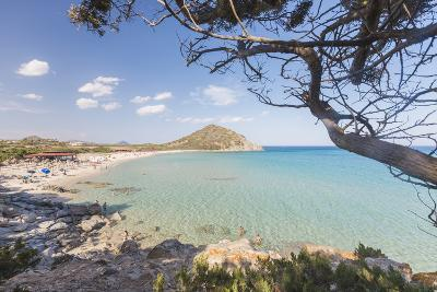 Mediterranean Vegetation Frames the Bay and the Turquoise Sea of Cala Monte Turno, Castiadas-Roberto Moiola-Photographic Print