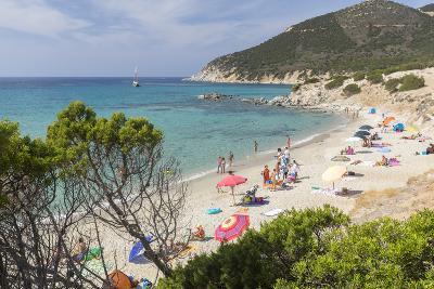 Mediterranean Vegetation Frames the Beach and the Turquoise Sea of Porto Sa Ruxi, Villasimius-Roberto Moiola-Photographic Print