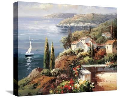 Mediterranean Vista-Peter Bell-Stretched Canvas Print