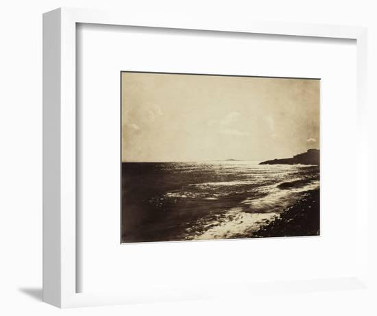 Mediterranean with Mount Agde, 1857-Gustave Le Gray-Framed Photographic Print