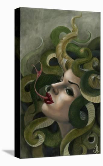 Medusa-Jesso-Stretched Canvas Print