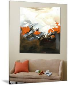 Orange Abstract by Meejlau