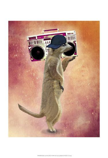 Meerkat and Boom Box-Fab Funky-Art Print